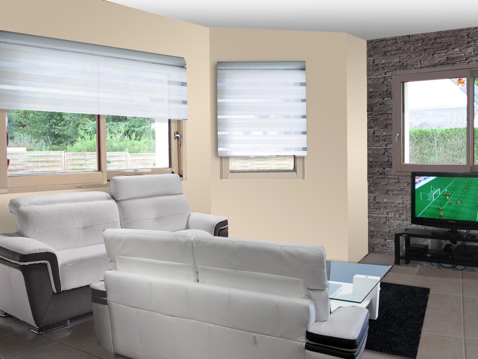 Simulation deco salon gratuit id e - Simulation papier peint salon ...