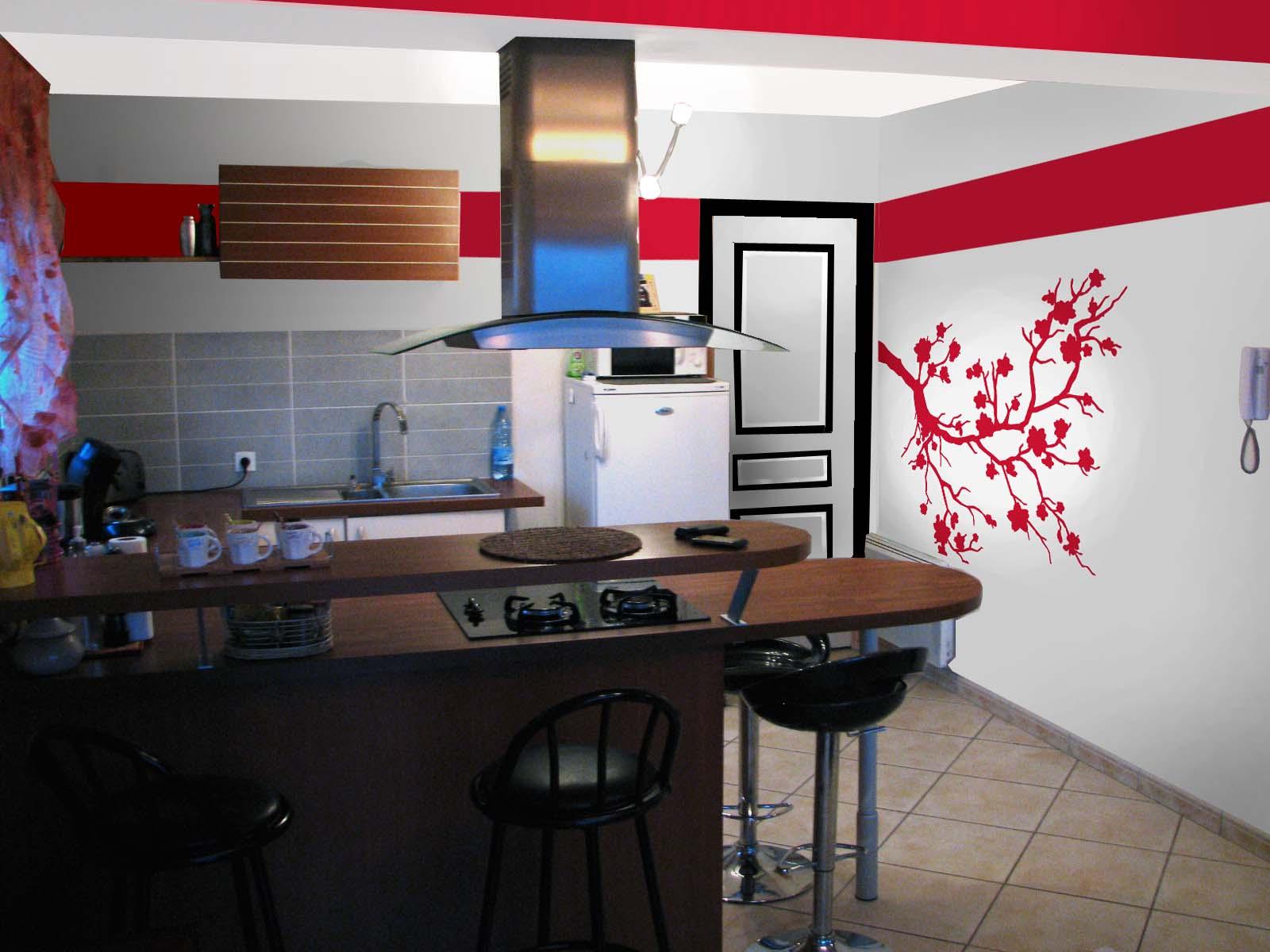 Salon Salle à Manger Et Cuisine De Rouge Et De Noir Dans Simulations  Img_0066  5 Eme Simulation Apltie 300x225 Dans Simulations